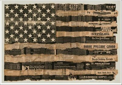 Massimo Vignelli, 'Melting Pot Flag (America the Melting Pot), 1976', 1989