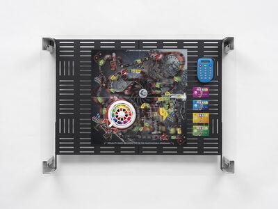 Simon Denny, 'Crypto Futures Game of Life Overprint Collage: Electronic Banking Dystopia', 2018