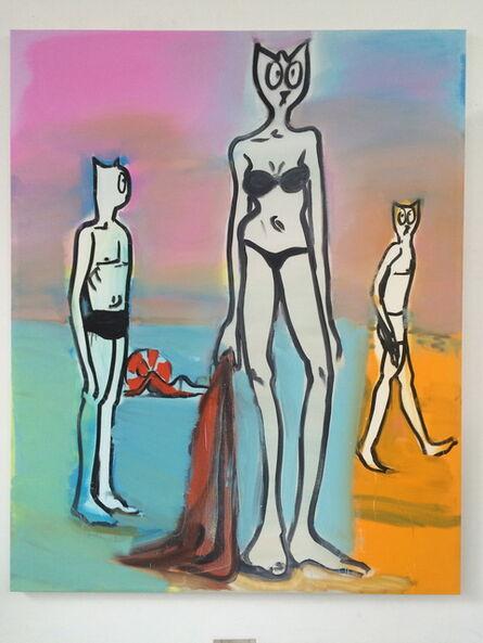 Alain Séchas, 'Trois à la plage', 2016