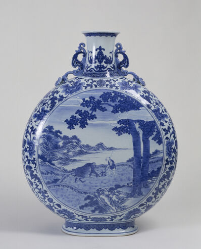 'Flask with Scenes of Plowing and Weaving', 1736-1795