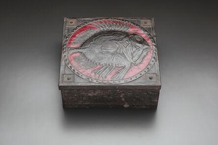 Alfred Daguet, 'Spiny Fish Metal Repousée Box', ca. 1905