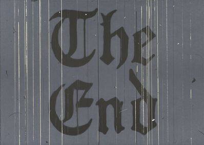 Ed Ruscha, 'The End', 1991