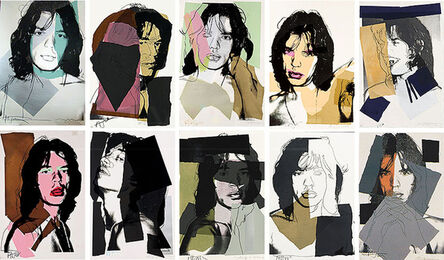 Andy Warhol, 'Mick Jagger Complete Portfolio (FS II.138-147)', 1975