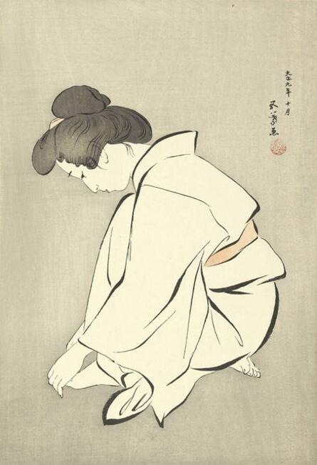 Goyo Hashiguchi, 'Woman Wearing a Tabi', Designed 1920