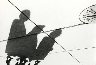 Marvin E. Newman, '3 Women Sewer, Shadow Series, Chicago', 1951