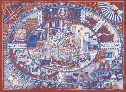 Grayson Perry, '100% Art Plate, A Small Investment, Mug and Art Club Tea Towel', 2020