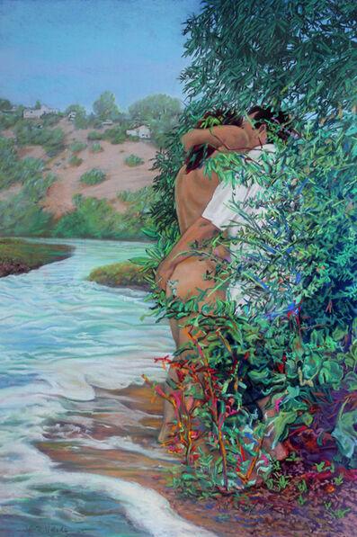 John Valadez, 'Lover's Creek', 2012
