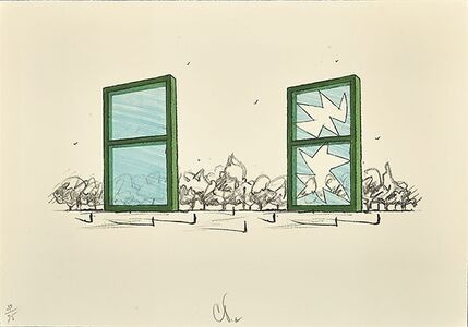 Claes Oldenburg, 'Proposal for Civil Monument in the Form of Two Windows', 1982