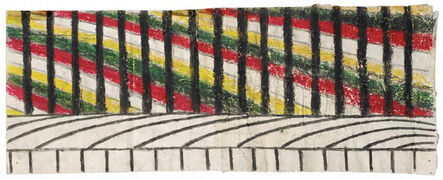 Martín Ramírez, 'Untitled (Abstraction with Yellow, Green, and Red)', 1963