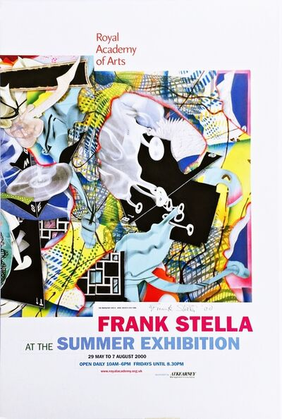Frank Stella, 'Frank Stella at the Summer Exhibition, Royal Academy of Arts  (Hand Signed)', 2000