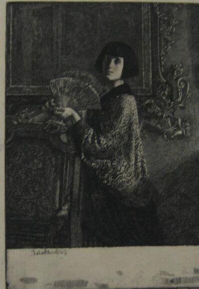 Gerald Leslie Brockhurst, 'L'Evantail (The Fan)', 1921