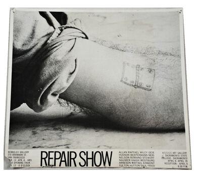 "Peter Saul, '""REPAIR SHOW"", Dual Venue Group Exhibition/Mailer, Berkeley Gallery San Francisco & ASSSC Art Gallery Sacramento State College, RARE', 1969"