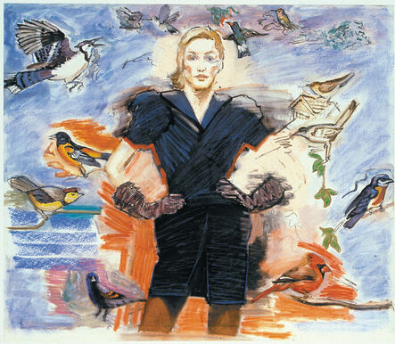 Larry Rivers, 'Fashion and the Birds: Blue Dress', 1997