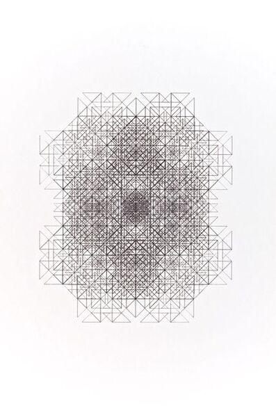 Jean-Pierre Hebert, 'Divertissement 13 d'une seule ligne noire', 1976-1977