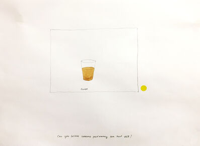 Jonathan Monk, 'CAN YOU BELIEVE SOMEONE PAID FOR THAT SHIT', 1996