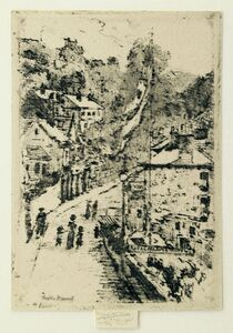 Theodore Roussel, 'A Street in Ventnor, Isle of Wight', 1912