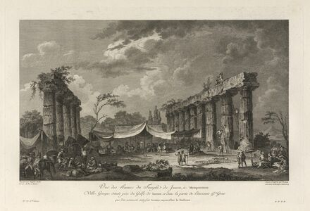 Jean Claude Richard de Saint-Non (author), 'Vue des Ruines du Temple de Junon, a Metapontum', 1781
