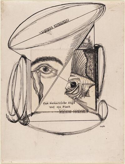 Johannes Theodor Baargeld, 'The Human Eye and a Fish, The Latter Petrified (Das menschliche Auge und ein Fisch, letzterer versteinert)', 1920