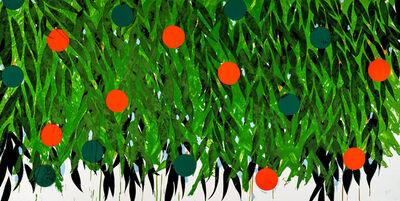 Donald Sultan, 'Orange and Green', 2021
