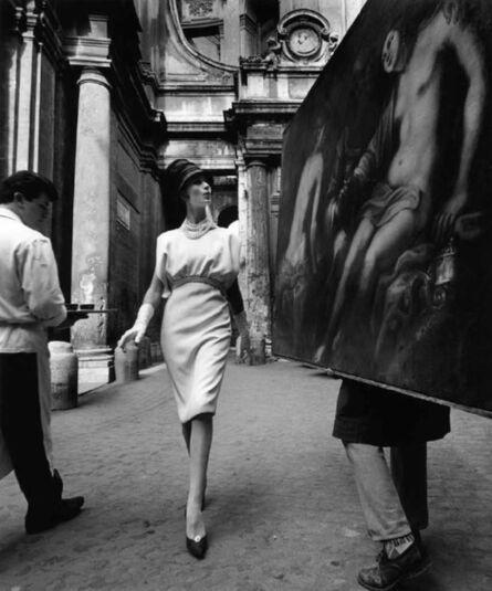 William Klein, 'Simone + Painting + Coffee, Rome', 1962