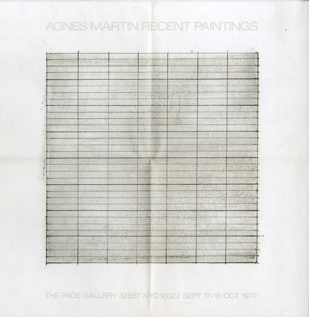 Agnes Martin, 'Agnes Martin Recent Paintings', 1977