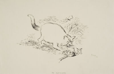 George Grosz, 'Cat and mouse', 1936