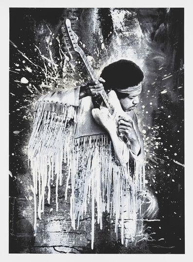 Mr. Brainwash, 'Jimi (White)', 2015