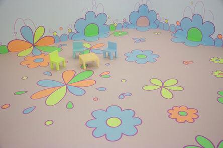 Lily van der Stokker, 'Flower Floor Painting', 2010