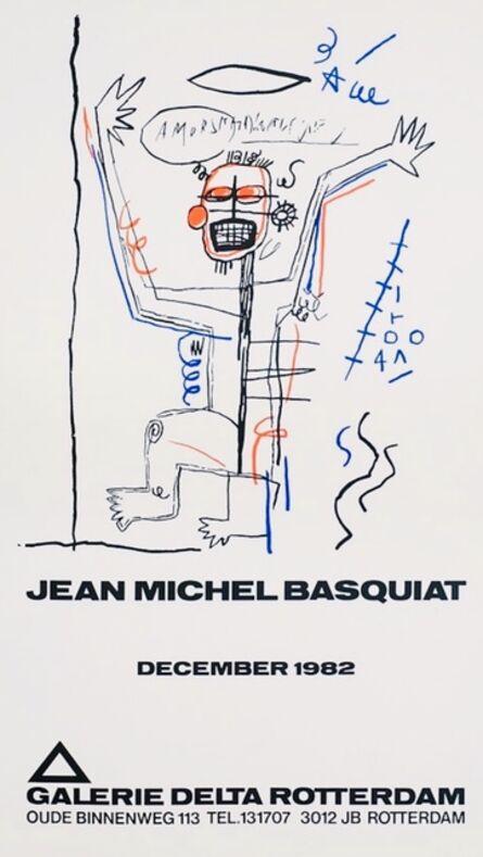 Jean-Michel Basquiat, 'Basquiat Galerie Delta exhibition poster Rotterdam 1982', 1982