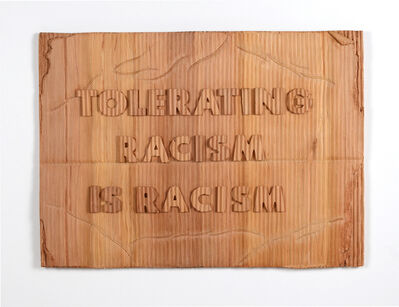 Humaira Abid, 'PROTEST SIGN: TOLERATING RACISM IS RACISM', 2021