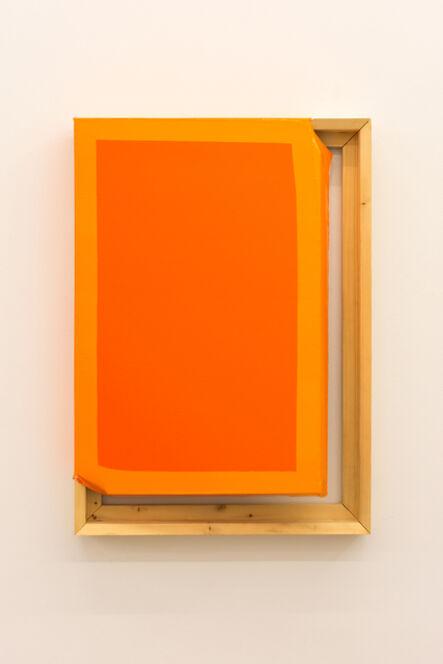 Angela de la Cruz, 'Tight (Dark orange/orange)', 2015
