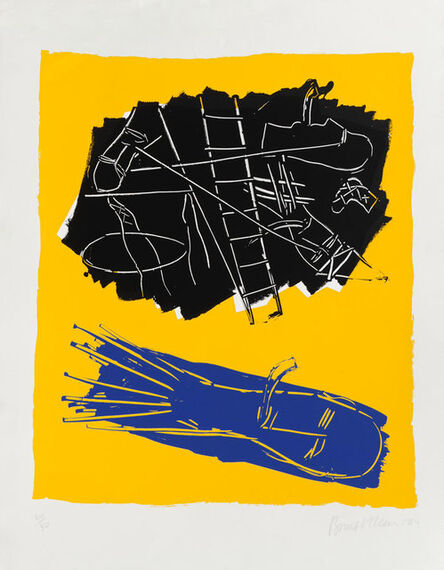 Bruce McLean, 'Pipe Dream (yellow background)', 1984