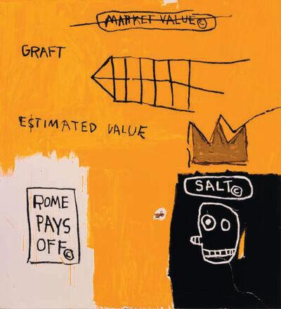 Jean-Michel Basquiat, 'Rome Pays Off', 1982