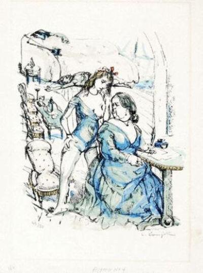 Léonard Tsugouharu Foujita 藤田 嗣治, 'Le Mesangre (Deux Femmes)', 1963
