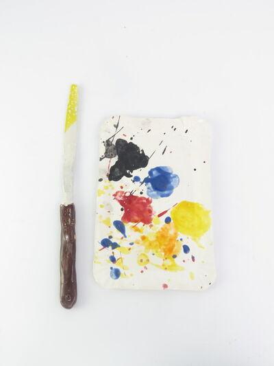 Rose Eken, 'Sausage papertray palette with spatular', 2015