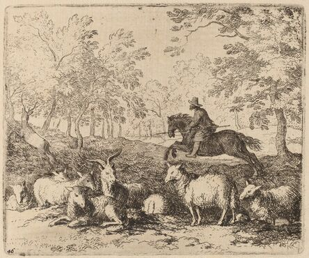 Allart van Everdingen, 'The Horse Forced to Pursue the Stag', probably c. 1645/1656