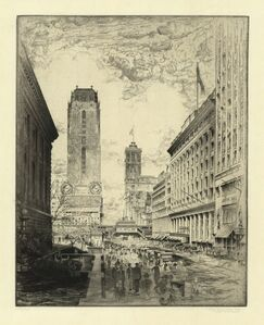 John Taylor Arms, 'West Forty-second Street.  (Corner of Fifth Avenue toward Sixth.)', 1920