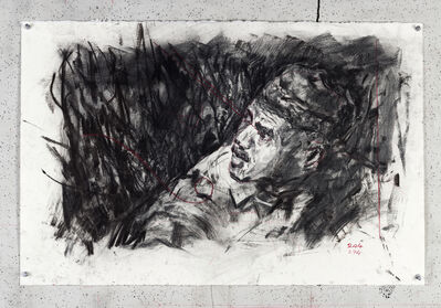 William Kentridge, 'Drawing for City Deep (Miner in Pit)', 2019