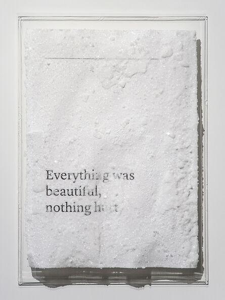 Cédric Maridet, 'Everything was beautiful, nothing hurt.', 2016
