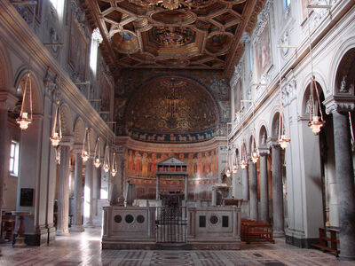 'Church of San Clemente, Rome: nave', 1128