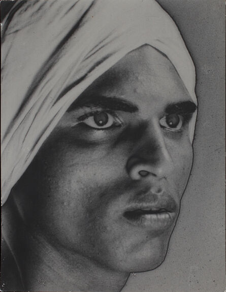 Lionel Wendt, 'Untitled (Portrait of man with turban)', ca. 1934-38