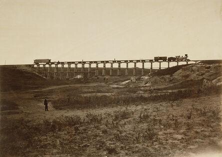 Alexander Gardner, 'Trestle Bridge Near Fort Harker, Kansas', 1867