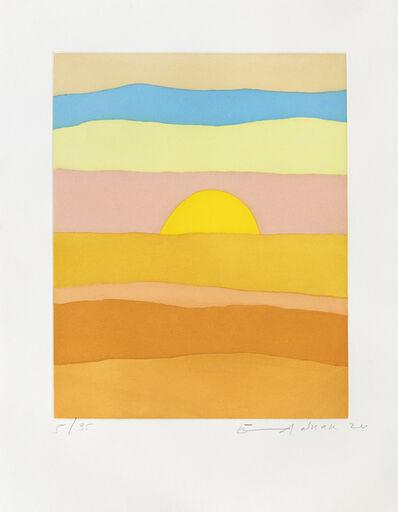 Etel Adnan, 'En attendant la lumière', 2020