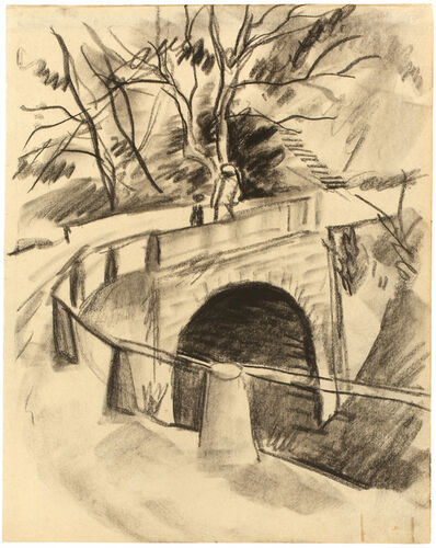 August Macke, 'Brücke über den Bach', 1913