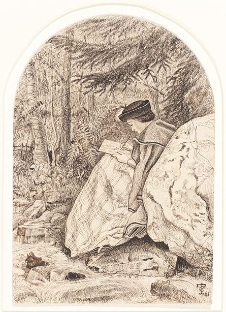 Thomas C. Farrer, 'Sketching from Nature', 1861