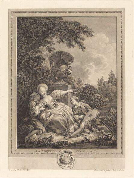 Jacques Couché and Jean Dambrun after Jean-Honoré Fragonard, 'La coquette fixee'