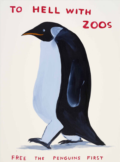 David Shrigley, 'To Hell With Zoos', 2021