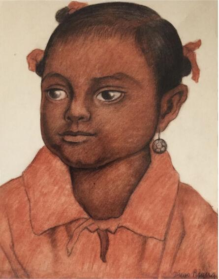 Diego Rivera, 'Retrato de Niña', 1935