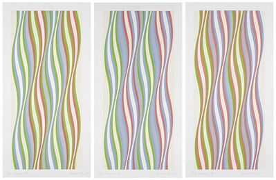 Bridget Riley, 'Green Dominance/Blue Dominance/Red Dominance', 1977