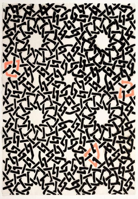Teresa Cole, 'Black and Pink Web Pattern', 2015